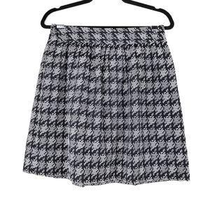 CROWN & IVY Black Textured Pattern Mini Skirt 4